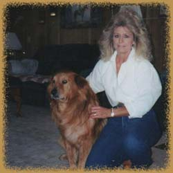 Jackie Jones and Tucker at C-J Ranch in Randlett, Oklahoma