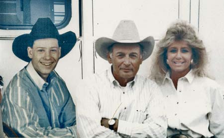 Lee, Jackie and Clayton Jones Owners and Operators of C-J Ranch in Randlett, Oklahoma